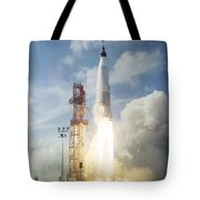 The Launch Of The Mercury-atlas 4 Tote Bag