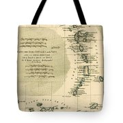 The Lesser Antilles Or The Windward Islands Tote Bag by Guillaume Raynal