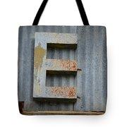 The Letter E Tote Bag