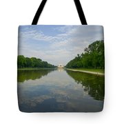 The Lincoln Memorial And Reflecting Pool Tote Bag