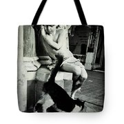 The Little Angel And The Cat Tote Bag
