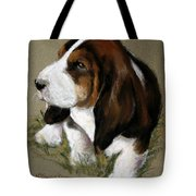 The Little Basset Tote Bag by Mary Sparrow