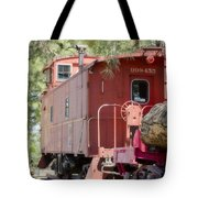 The Little Red Caboose Tote Bag