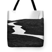 The Long And Winding Road Bw Tote Bag