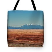 The Long Road To The Meteor Crater In Az Tote Bag