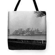 The Lower New York Skyline Tote Bag
