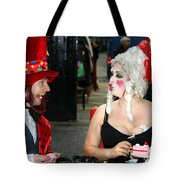 The Mad Hatter And The Red Queen Tote Bag
