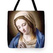 The Madonna Praying Tote Bag