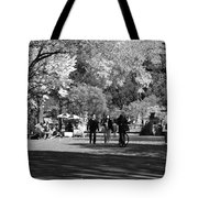 The Mall At Central Park In Black And White Tote Bag