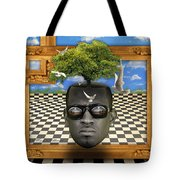 The Man And The Tree  Tote Bag