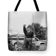 The Man Of Steel On I 95 Tote Bag
