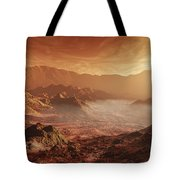 The Martian Sun Sets Over The High Tote Bag