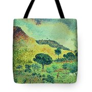 The Maures Mountains Tote Bag by Henri-Edmond Cross