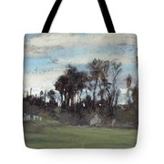 The Meadow Lined With Trees  Tote Bag