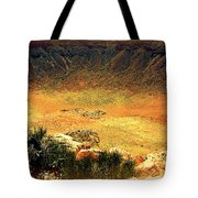 The Meteor Crater In Az 1 Tote Bag