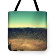 The Meteor Crater In Az 4 Tote Bag