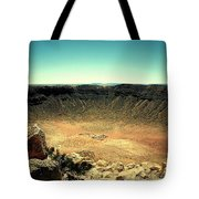 The Meteor Crater In Az Tote Bag