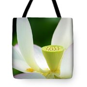 The Middle Of A Lotus Tote Bag