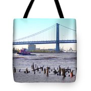 The Mighty Delaware River Tote Bag