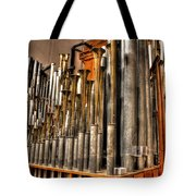 The Mighty Wurlitzer Pipes Detroit Mi Tote Bag