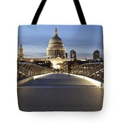 The Millennium Bridge Looking North Tote Bag