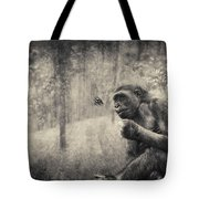The Monkey And Butterfly Tote Bag