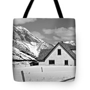 The Moulton House In Winter Tote Bag