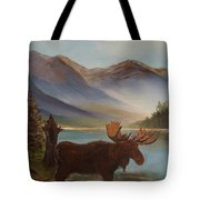 The Mountain Moose Tote Bag