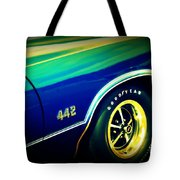 The Muscle Car Oldsmobile 442 Tote Bag