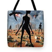 The Mysterious Black Shape Of Beings Tote Bag