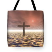 The Mystery Of The Cross Tote Bag