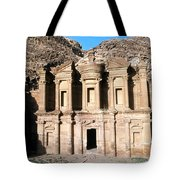 The Nabateian Temple Of Al Deir Tote Bag