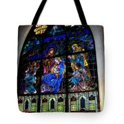 The Nativity Stained Glass Tote Bag