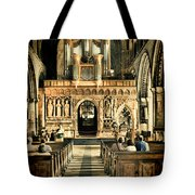 The Nave At St Davids Cathedral 2 Tote Bag