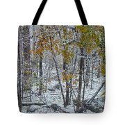 The October Blizzard Begins Tote Bag