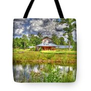 The Old Barn By The Pond Tote Bag