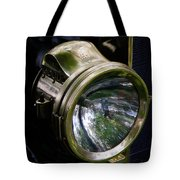 The Old Brass Ford Headlight Tote Bag by Steve McKinzie