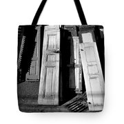 The Old Doors Bw Tote Bag