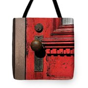 The Old Red Door Tote Bag
