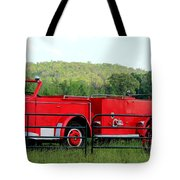The Old Red Fire Engine Tote Bag
