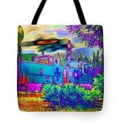 The Old Santa Fe Tote Bag by Joyce Dickens