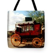 The Old Stage Coach Tote Bag