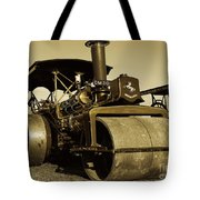 The Old Steam Roller Tote Bag