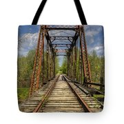 The Old Trestle Tote Bag by Debra and Dave Vanderlaan