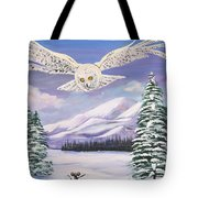 The Owl And The Rat Tote Bag by Phyllis Kaltenbach