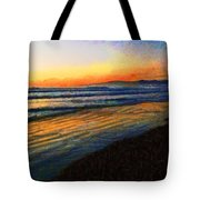 The Painted Waves Of Dawn  Tote Bag