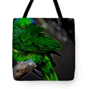 The Parrot Fractal Tote Bag