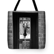 The Payphone - Black And White Tote Bag