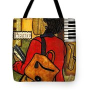 The Piano Lady Tote Bag
