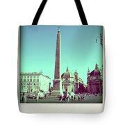 The Piazza Del Popolo. Rome Tote Bag